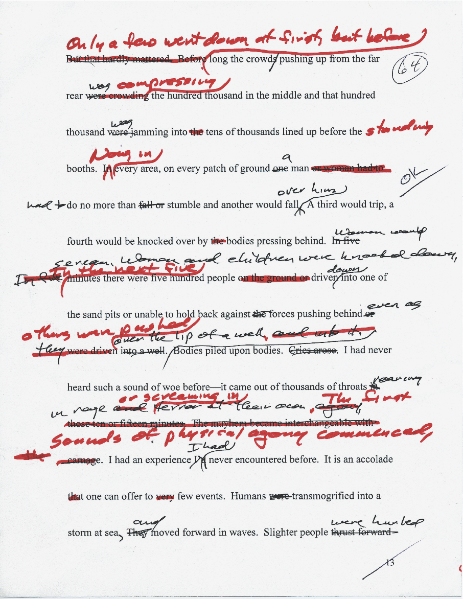 theparisreview:  A manuscript page from The Castle in the Forest by Norman Mailer.