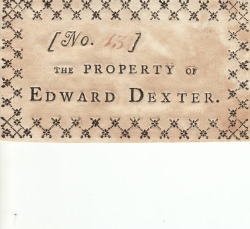 theparisreview:  Great examples of early American printed book labels.