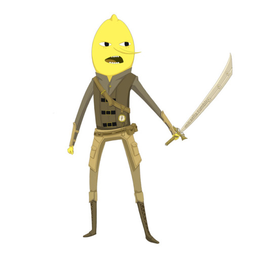The Earl of Lemongrab Adventure Time in Renaissance/Steampunk:  FinnFionnaJake MarcelineMarshall Lee Flame PrincessFlame Prince Prince GumballPrincess BubblegumIce KingIce QueenLSPBMONEPTRLady RainicornLord Monochromicorn