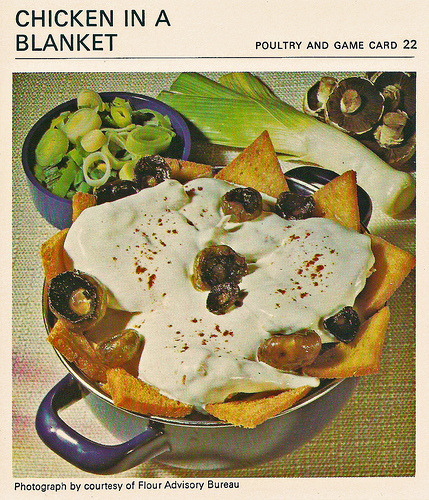 What's For Tea Mother ? Chicken In A Blanket.