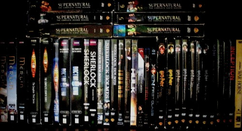 whyarentibritish:  iam-sherloki-d:  actuallybatman:  This one dvd shelf is basically Tumblr    Guys, when I first saw this, I was only in the doctor who fandom, but it was cool, so I reblogged it. Now I am in every single one of these fandoms. Thank you, people of tumblr.