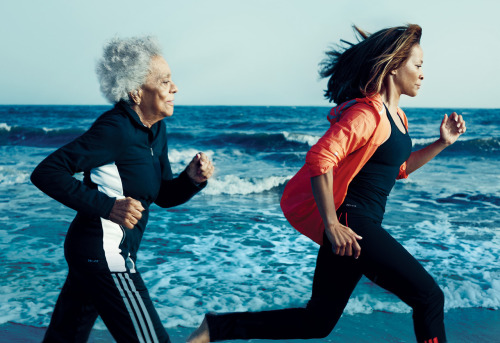 "skindeepskinny:  slowlygettingslimmer:  96-year-old runner and her 60-year-old daughter ""Age ain't nothin' but a number.""  This is why I work out. So I don't have to be scared of growing old."