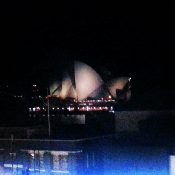Amazing view #sydney #opera #night #view  (Taken with Instagram)