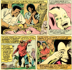A few panels from what is definitely among the strangest origin stories of all time: Mandrill and Nekra. From DAREDEVIL #110, June 1974. Script by Steve Gerber; Pencils by Gene Colan; Inks by Frank Chiaramonte; Letters by Artie Simek; Colors by Linda Lessmann.