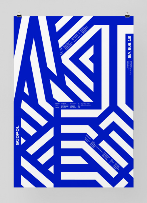 Image of the Day: Poster for Südpol '12, a multi-purpose cultural center in Kriens, Switzerland. Design by Felix Pfäffli.