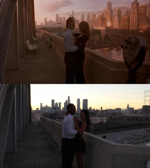 Movie: The MaskActor: Jim CarreyLocation: 6th Street Bridge, Los Angeles, CAWith: Jane ParkPhotographer: Matt Ochoa