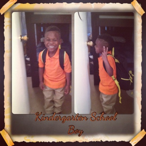 My babe is fresh dressed-like ah million bucks!!!!👏👍🚌🙇🐴🎓📝📖 (Taken with Instagram)