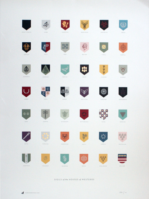 The Sigils of the House of Westeros