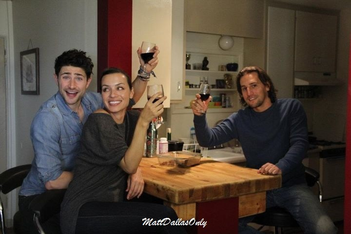 matt-dallas-only:  Cheers Life Tracker!!  — with Matt Dallas, Rebecca Marshall and Barry Finnegan.