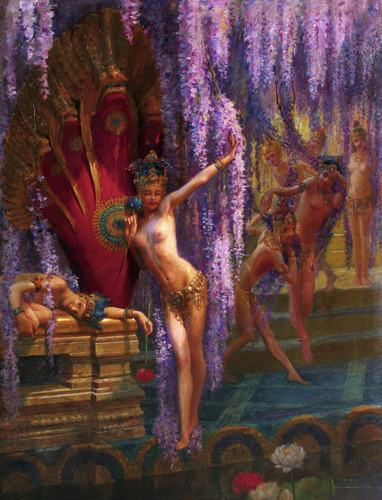 Gaston Bussière, Exotic Dancers, (~1880)