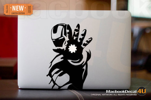 geekymerch:  (via Iron Man LIMITED EDITION macbook decal / by macbookdecal4u)