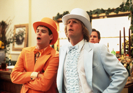 HARRY AND LLOYD'S TUXEDOS …also known as the most refined costumes ever worn on film. Dumb & Dumber (1994), directed by: Peter and Bobby Farrelly, costume design by: Mary Zophres