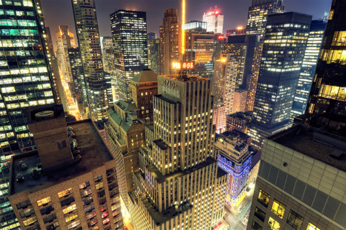 saint-gabriel:  Midtown Manhattan at night
