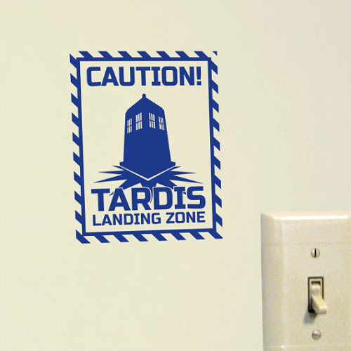 (via Tardis Landing Zone Vinyl Decal by argibiCreativeStudio on Etsy)