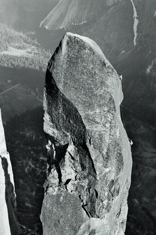 "patagonia:  ""Lost Arrow Spire. Yosemite.""  / page 48. Photo by Glen Denny"