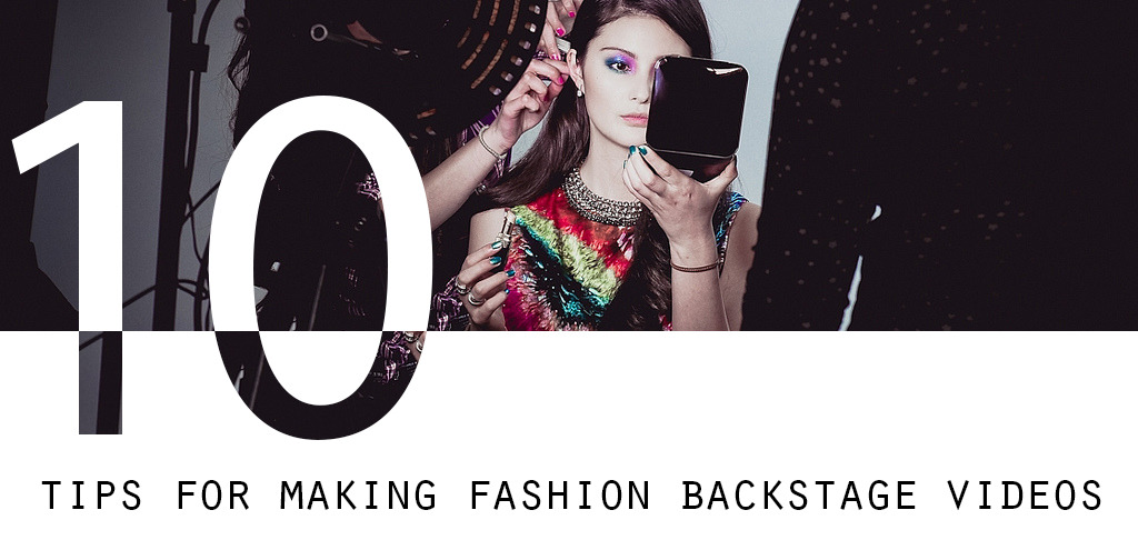 "10 tips for making fashion backstage videos.  1. Show up, start filming and stay in the background.  Your goal is to make your backstage video as authentic as possible, therefore make yourself invisible and the team will work naturally.  2. Use a small camera. For instance, I use a mirrorless camera: Sony Nex 5N. If you work with big cameras, you won't be that flexible and the team will find it impossible to ignore your mega HD professional camcorder.  3. Get some ""peak a boo"" shots. Don't try to get the best view, let people stand in the way, shoot through clothing racks, between people, etc.  4. Film from strange angles - from the ground, in the corner, from the top of a ladder etc.  5. If you have a spare flip camera (or iPhone), place it somewhere safe and press record. That footage can be used to create a quick stop motion clip. Turn it black and white, et voila.  6. Capture little moments for 30 secs-1 min on film. It will be easier to review your footage afterwards, rather than having 20 minute shots.  7. If possible, avoid music during the shoot. Otherwise you'll have to mute out the real audio and use another song for the video.  8. Use external microphones if you want to add interviews to your video. Even your iPhone is good enough to be used as a microphone. Anything is better than the microphone of your camera.  9. Don't set up scenes. Like I already mentioned, just show up, start filming and stay in the background!  10. The shots you don't want to miss:  - the Makeup-artist applying makeup - the team fiddling around the model putting her dress on, straightening her hair etc. - the team from the models point of view  - the photographer directing the model - the model posing with a clear backgroundCheck out the tiles of backstage photographs above for inspiration. Some of them are linked to the actual backstage video.  Please note that all those tips regarding making fashion backstage videos are based on my own experience and style.   If you have any questions, please ask me!  Happy filming,  Nicole x P.S.: For more tips, click here."