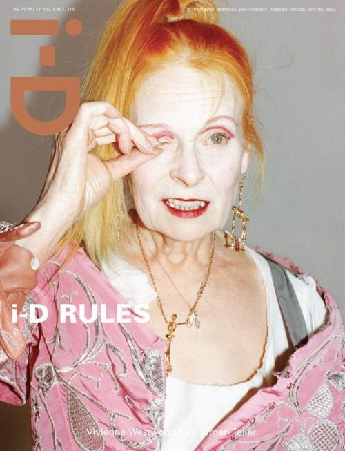 localshop:  Vivienne Westwood Photographed by Juergen Teller for i-D Magazine March 2012