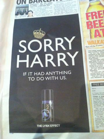 Very Clever Advert in the Paper over the Weekend.