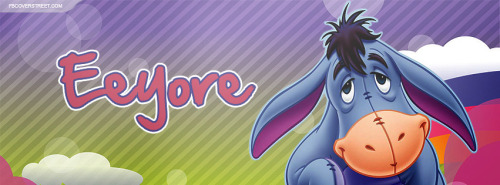 Eeyore Colorful Facebook Cover