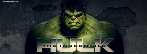 The Incredible Hulk Broken Concrete Wall Facebook Cover