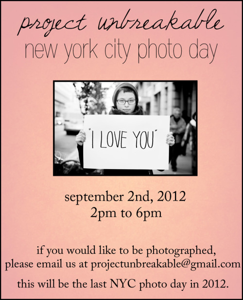 Impromptu NYC photo day. Please feel free to pass along to your friends and followers!
