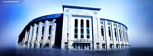 Yankees Stadium Blue Facebook Cover