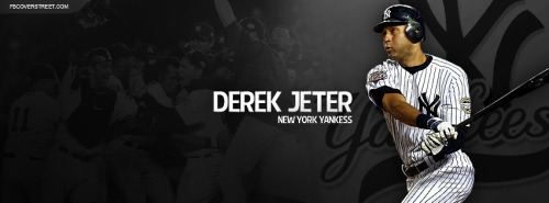 Derek Jeter Swinging New York Yankees Facebook Cover