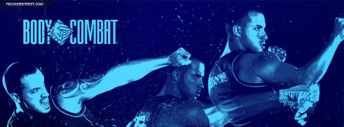 Body Combat Figher Actions Blue Facebook Cover