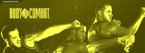 Body Combat Figher Actions Green Facebook Cover