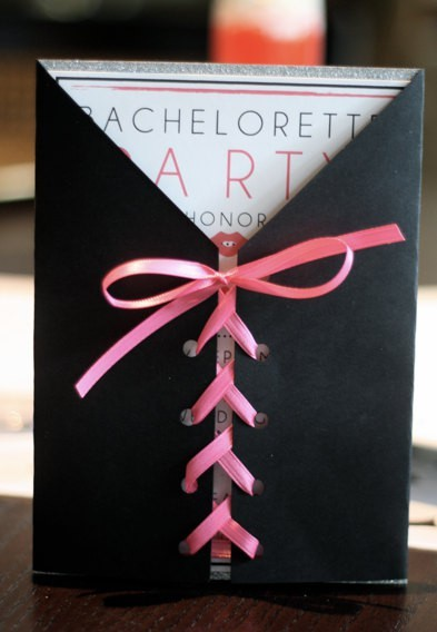 fairytaleweddings-xo:  Very cute DIY bachelorette invitation cards !  Saucy!
