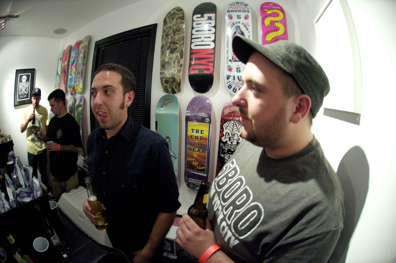This past Saturday was the grand opening art showing at Nephews Skateshop & Art Gallery at 183 Main Street in Port Monmouth, NJ. Along with being a skater owned and operated core shop, the guys plans to showcase new art every two months from artists around the area. For more info go to Nephewsskateshop.com, follow them on Instagram and Twitter, and most importantly go check it out yourself.