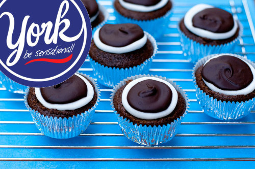 york peppermint patty cupcakes.