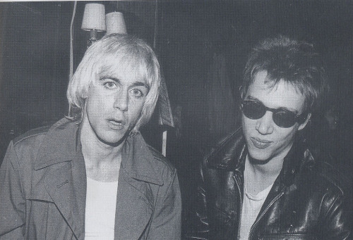 Iggy Pop and Richard Hell