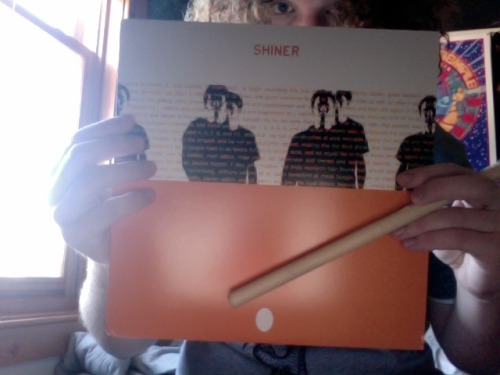 agleaminranks:  Shiner goodies from last night: Got my vinyl copy of The Egg, their swan song album that came out 11 years ago.  First time it was ever pressed on wax and it's a super limited run only available at the past five tour dates, so I'm pretty damn excited I got a copy.  Also managed to get one of the drummer's drumsticks. I also got a pretty bitchin' silkscreen poster, as well as a t-shirt with the same design.  Pretty damned good haul, I think.