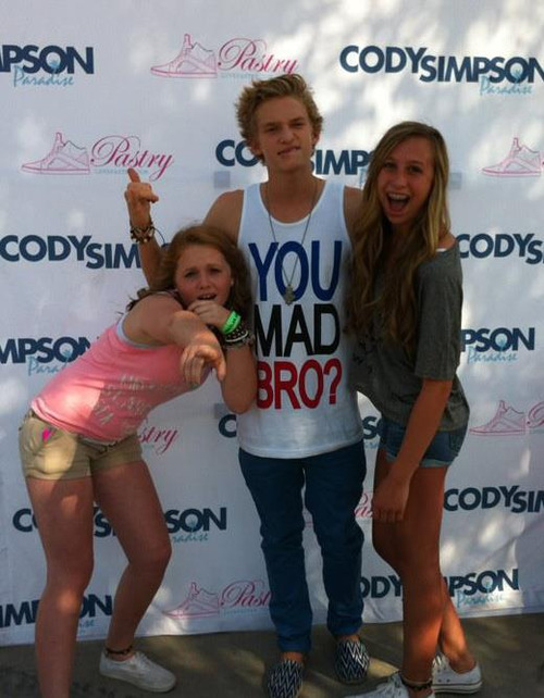 weloveitme:  cody simpson #alli simpson #cody's angels