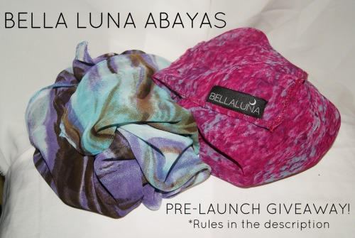 bellalunaabayas:  PRE-LAUNCH GIVEAWAY! Check it out here and don't miss this opportunity to win one of our exclusive maxi-scarves!
