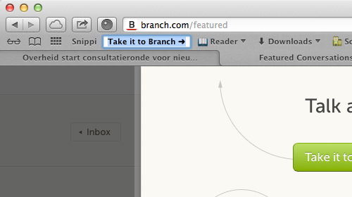 Safari 6 — After dragging a link to the bookmarks bar, you can immediately change the name of the bookmark. /via Jonathan