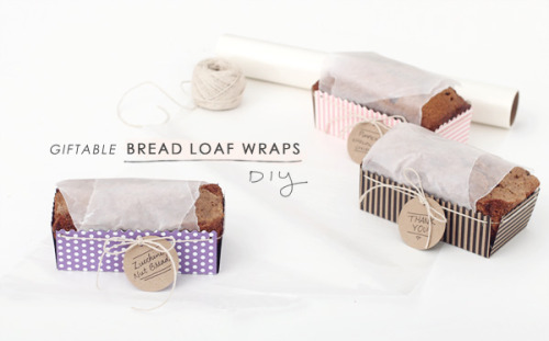 Giftable bread loaf wraps free template and DIY via Making Nice in the Midwest