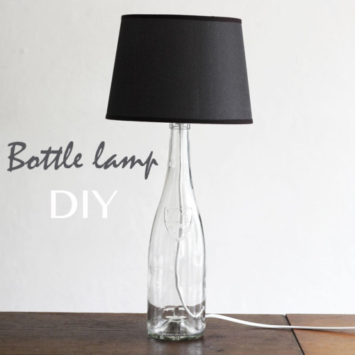 Bottle lamp DIY via Lana Red