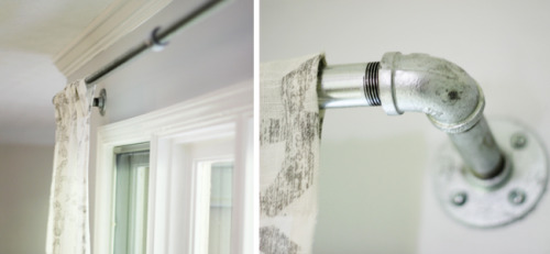 Steel curtain rod DIY via Maie Dae