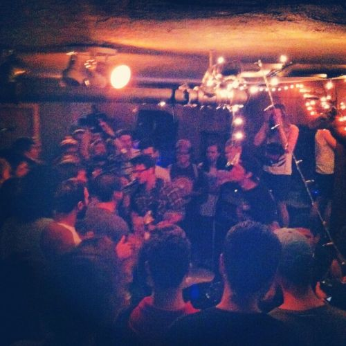 "allstonpudding:  Much to the dismay of anyone who's ever heard them before, The Clippers played their final show last Friday at the Massasoit Elks Lodge, just a stone's throw away from Central Square. For nearly two years, the Allston-based duo has attracted insane crowds, got signed to Topshelf Records, and, according to singer/guitarist Josh, cranked out tunes about ""dating mature women and a bunch of other stuff [they've] never done""… [READ MORE]"