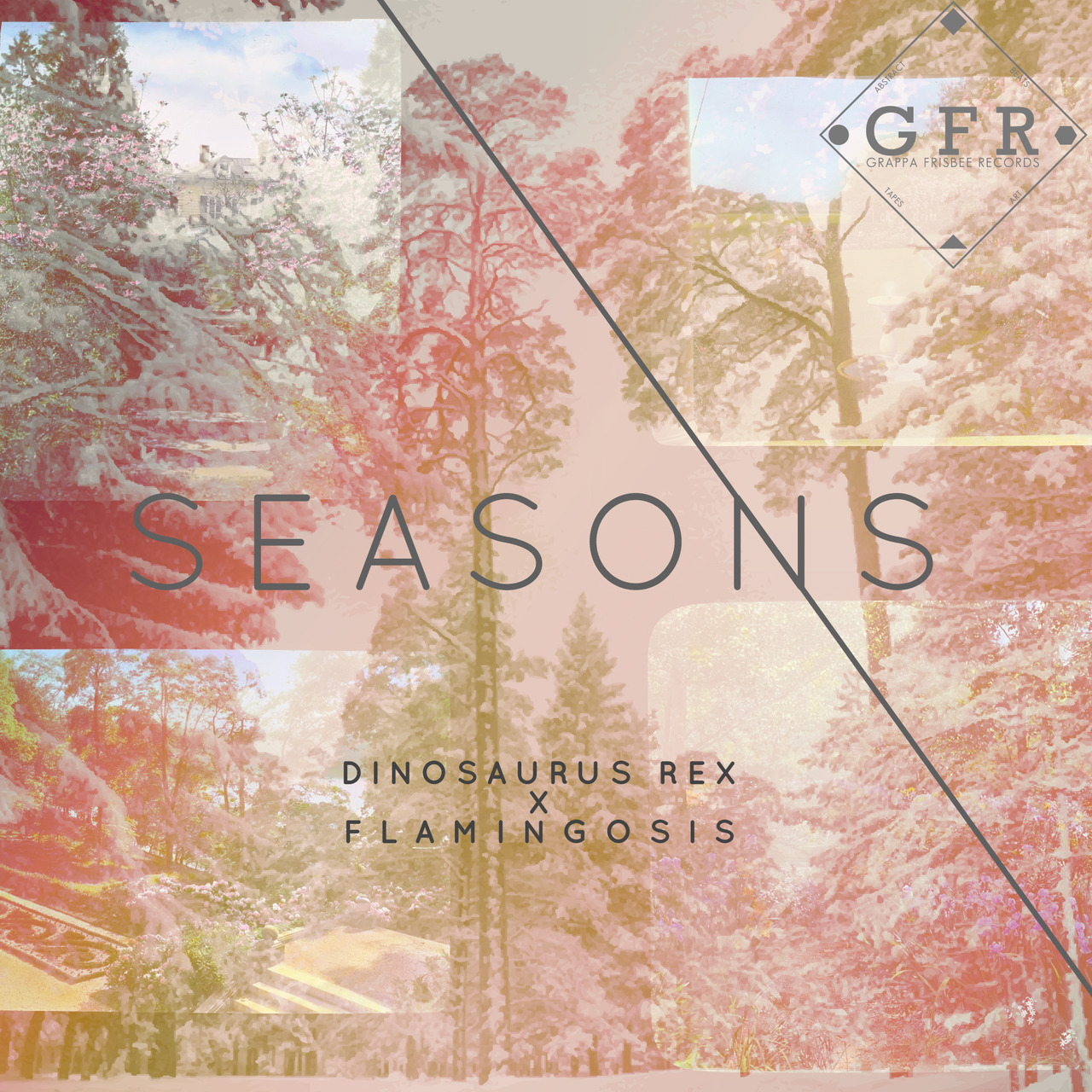 "◊ Make sure you pick up this beautiful split EP from Flamingosis and Dinosaurus Rex, ""Seasons"" GFR052. 7 tracks that promise to brighten your day ◊ http://grappafrisbeerecords.bandcamp.com/album/gfr052-seasons"