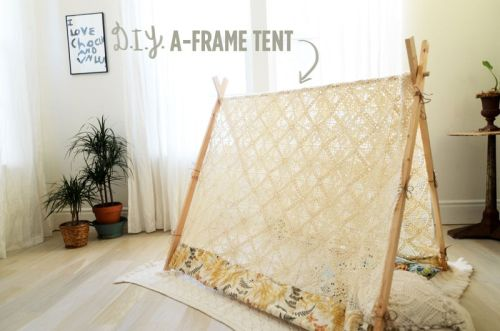 Make your own dreamy lace tent via A Beautiful Mess