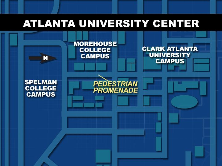 spelmanites:  The Atlanta University Center Consortium (AUC Consortium) is the largest contiguous consortium of African Americans in higher education in the United States. The center consists of four historically black colleges and universities (HBCUs) in southwest Atlanta, Georgia. The institutions included in this consortium are Clark Atlanta University, Spelman College, Morehouse College and the Morehouse School of Medicine. The consortium structure allows for students to cross-register at the other institutions in order to attain a broader collegiate experience. They also share the Robert W. Woodruff Library, a Dual Degree Engineering Program and Career Planning and Placement Services.  IF YOU DIDN'T KNOW WHAT AUC STOOD FOR