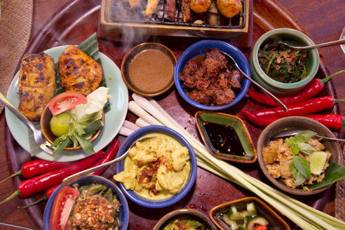 Bumbu Bali restaurant specialty dishes.