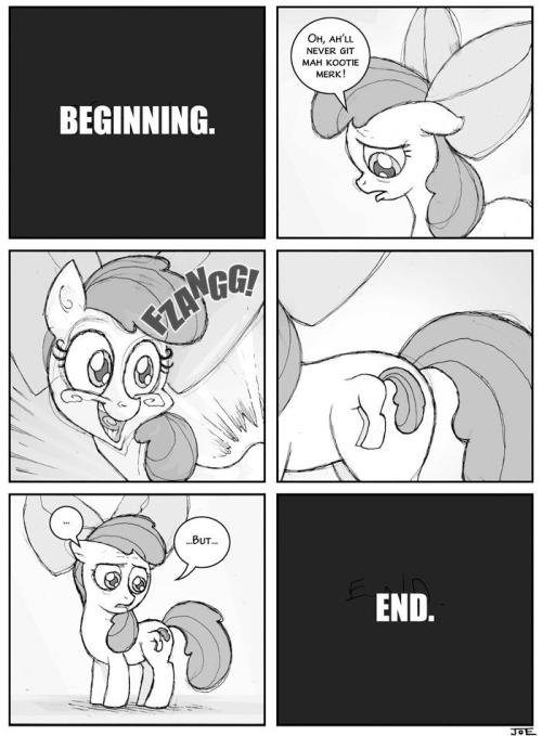 lauphing-bronie:  Poor Apple Bloom…