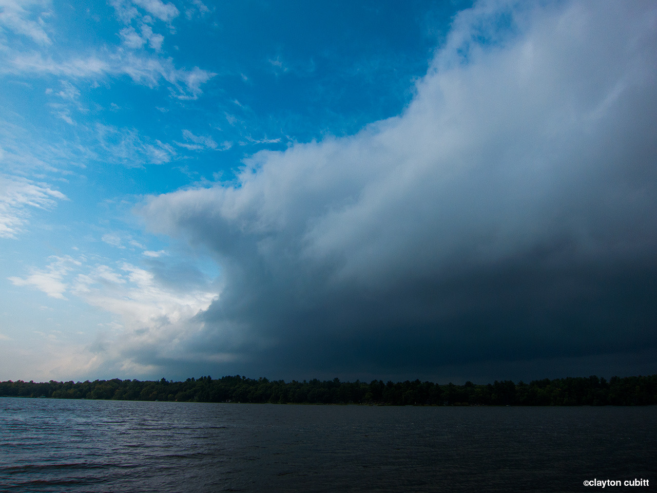 Rain clouds passing the lake, Minnesota   (2990)