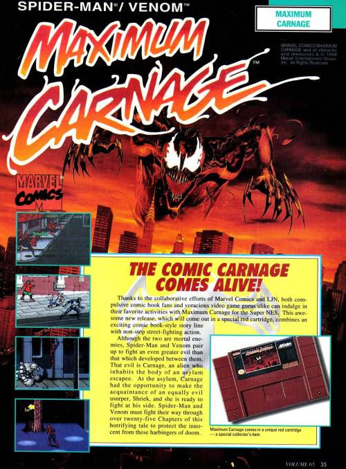 Spider-Man / Venom: Maximum Carnage.