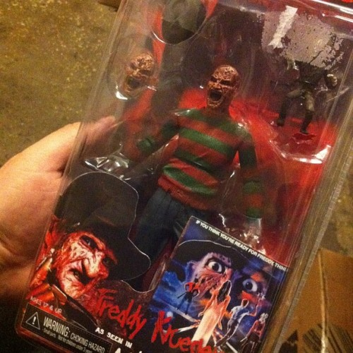 Mall haul: New @Neca_Toys Freddy! Stoked to have another one from Dream Warriors. It's my favorite.  #NightmareonElmStreet #Freddy #Neca #Toys #Figures #Horror  (Taken with Instagram)