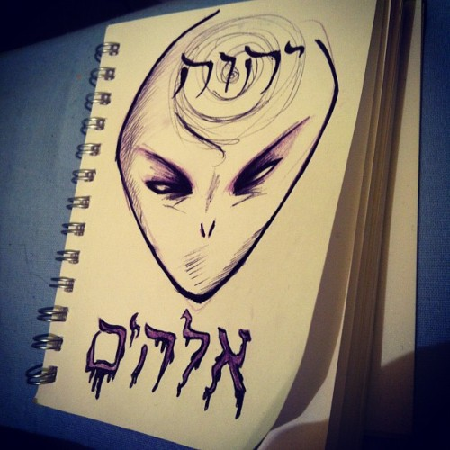 "batbite:  #alien #god #hebraism #jew #language #elohim #anunnaki (Scattata con Instagram)  Here's the thing.  This is blasphemy.  You are using the holy names of G-d for your mediocre art project.  G-d doesn't really like people taking His Name in vain, a fact He has stated many time in the Torah.  I will assume you are a non-Jew.  Blasphemy of G-d's Holy Names is also forbidden for non-Jews.  The 5th of the Seven Laws of Noah is the prohibition of blasphemy.  Your ""artwork"" is an affront to G-d and Judaism.  Your flippant use of G-d's Holy Names is distressing and disturbing.  That being said, notice how I have not threatened you, issued a fatwa against you or called on people to kill you.  That is because I am a Jew."
